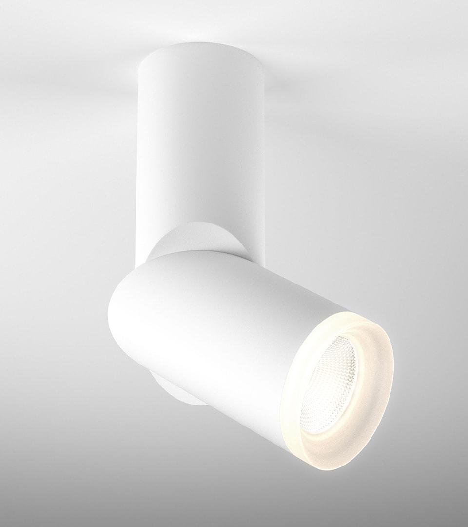 Накладной потолочный светодиодный светильник DLR036 12W 4200K белый матовый 1