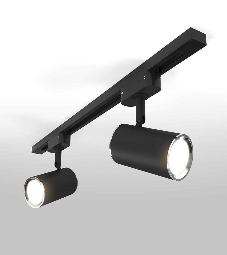 Трековый светильник для однофазного шинопровода Rutero GU10 Черный 3
