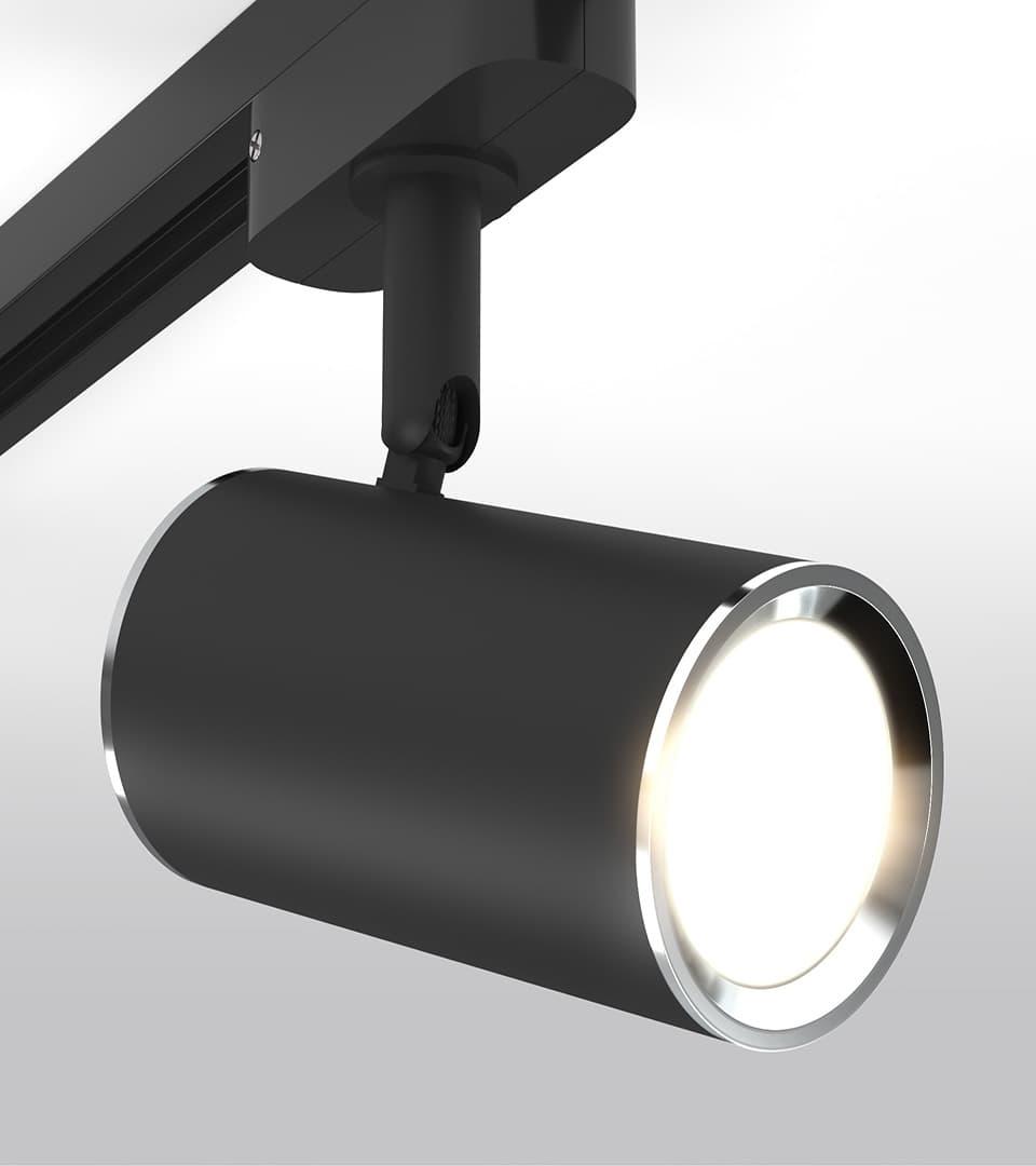 Трековый светильник для однофазного шинопровода Rutero GU10 Черный 2