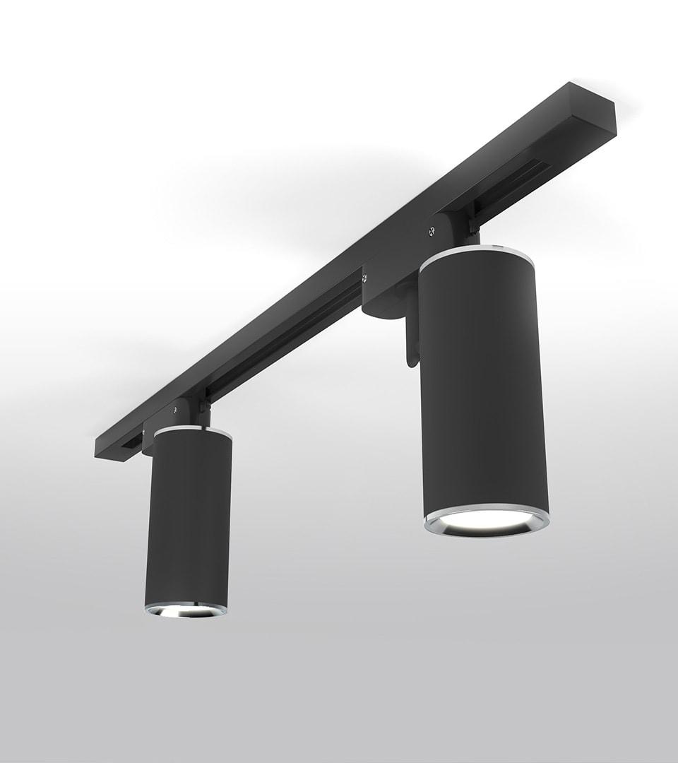 Трековый светильник для однофазного шинопровода Rutero GU10 Черный 1