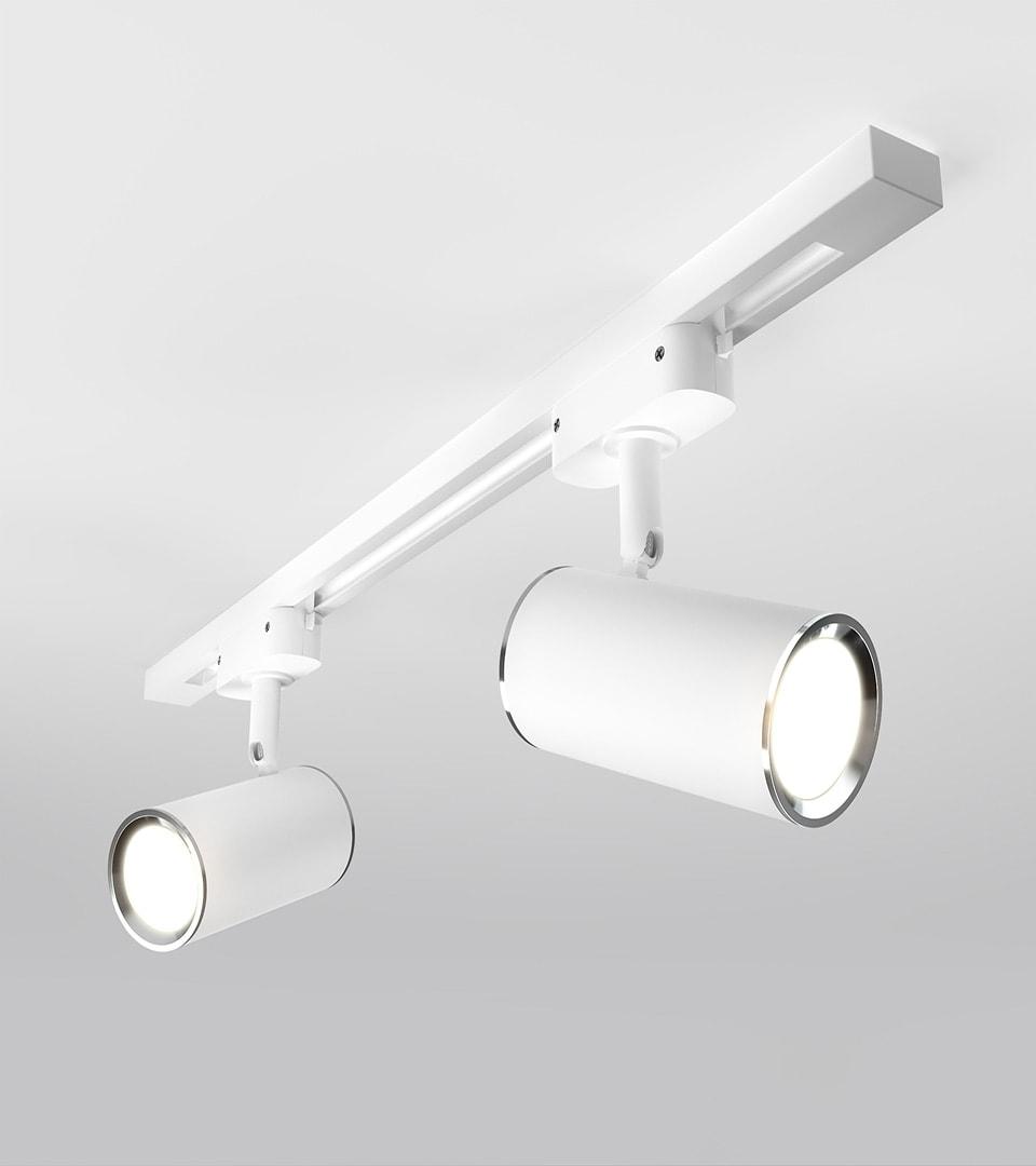 Трековый светильник для однофазного шинопровода Rutero GU10 Белый 3