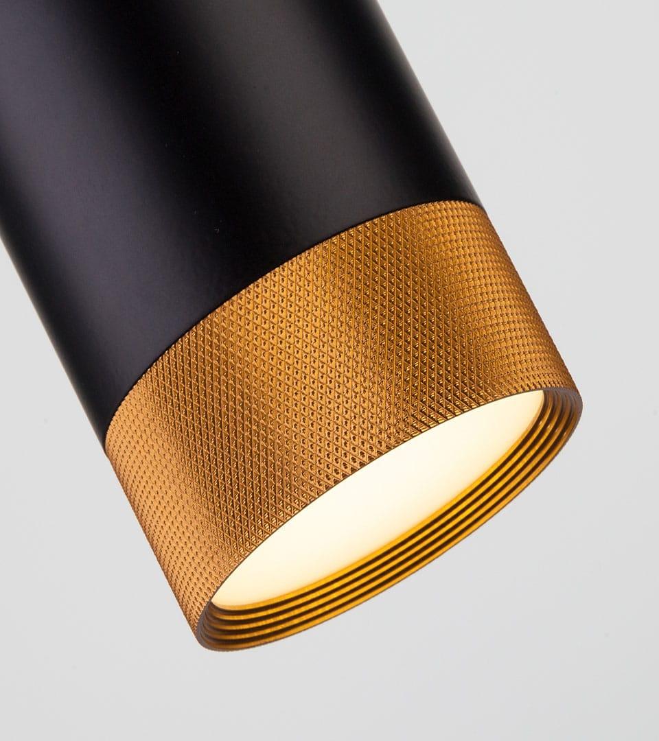 Подвесной светодиодный светильник  50164/1 LED черный/золото 4
