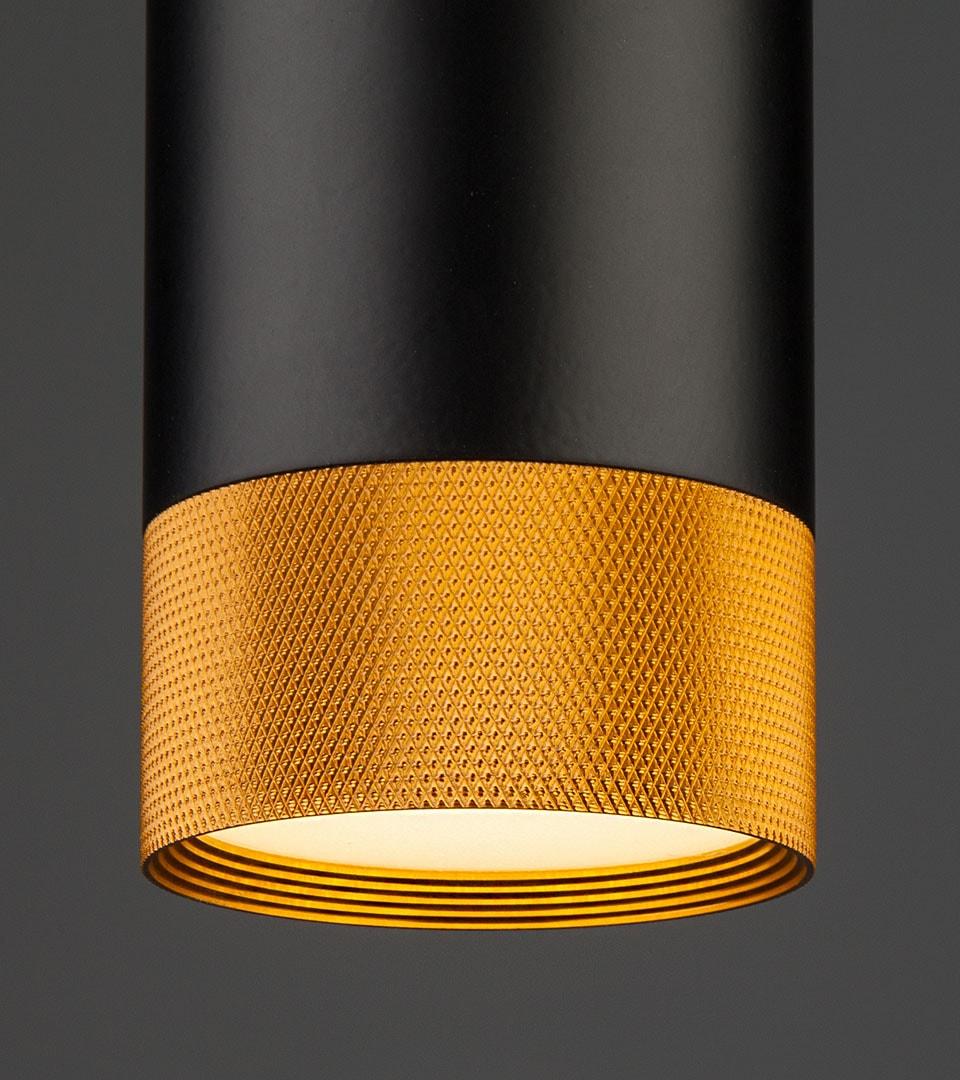Подвесной светодиодный светильник  50164/1 LED черный/золото 3