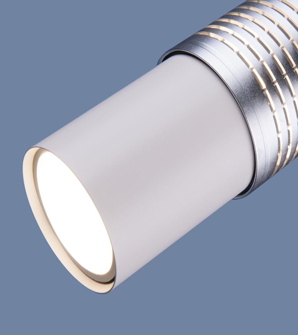 Подвесной светильник DLN001 MR16 белый матовый/серебро 5