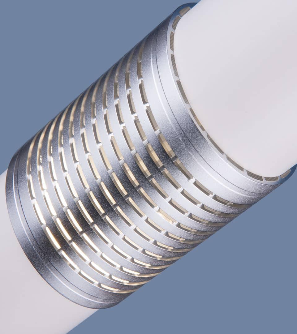 Подвесной светильник DLN001 MR16 белый матовый/серебро 3