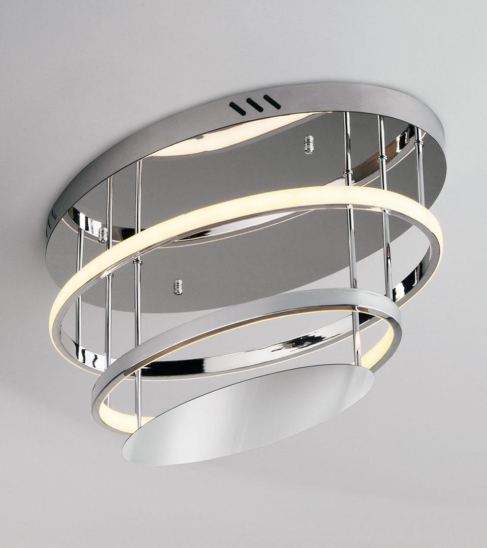 Потолочный светодиодный светильник с пультом управления 90160/2 хром 2