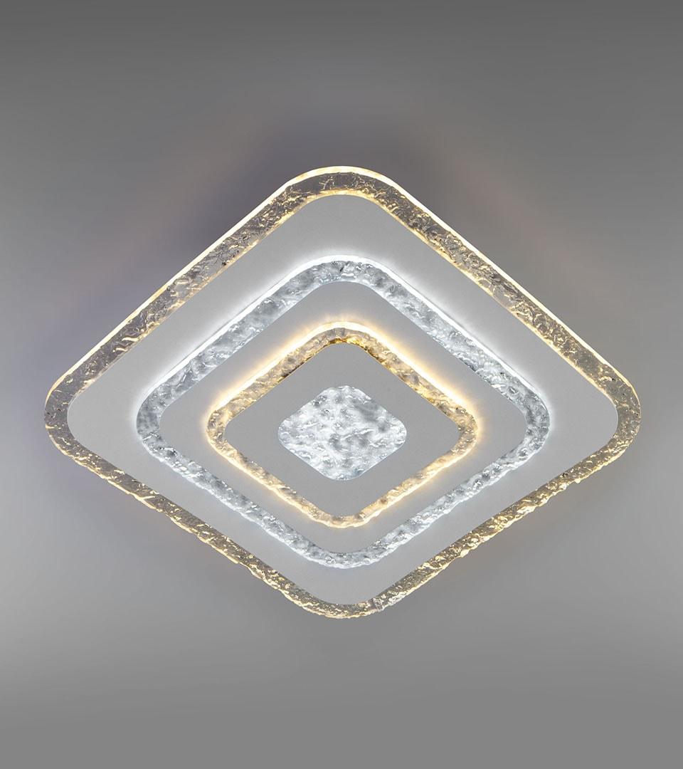 Потолочный светодиодный светильник с пультом управления 90211/1 белый 4