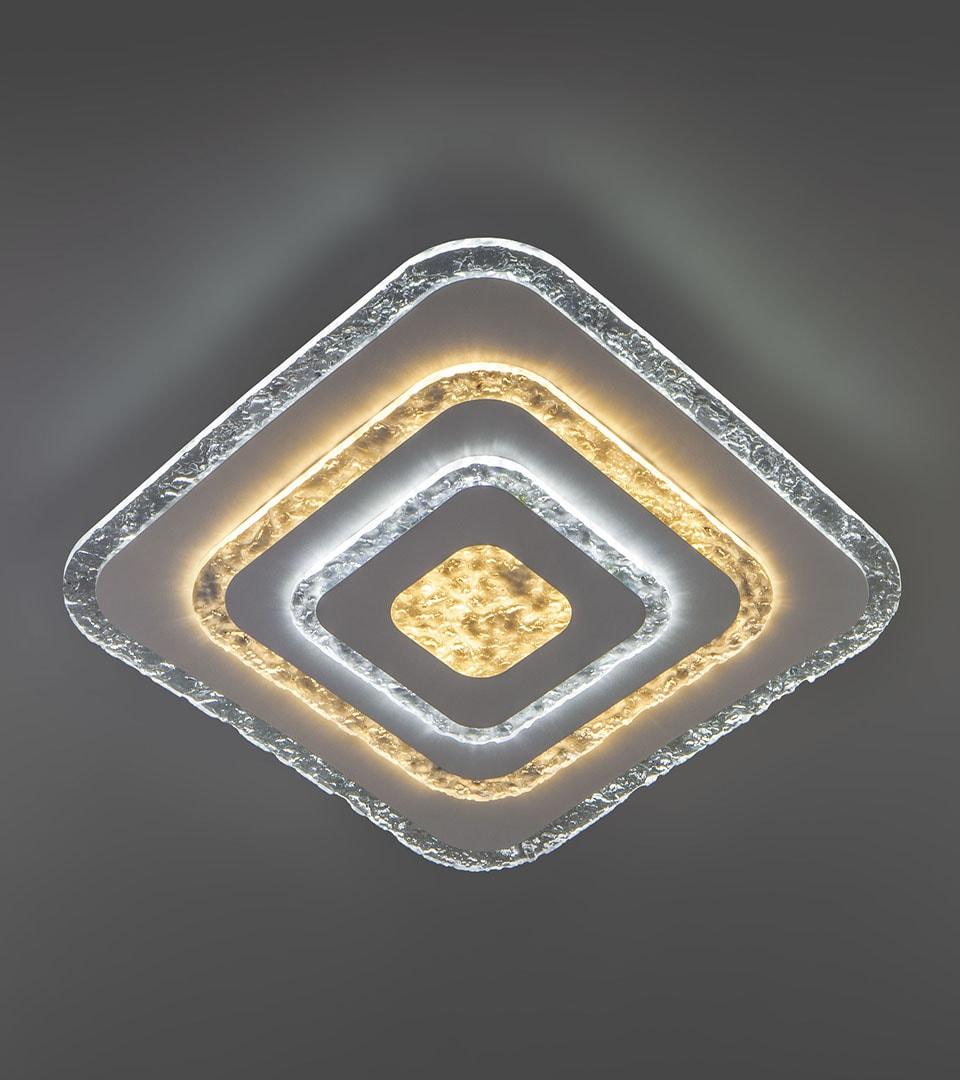 Потолочный светодиодный светильник с пультом управления 90211/1 белый 1