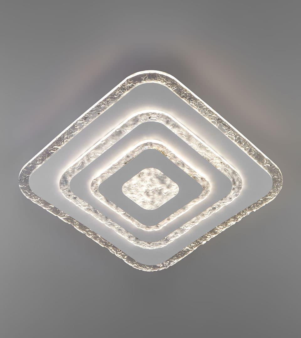 Потолочный светодиодный светильник с пультом управления 90211/1 белый 3
