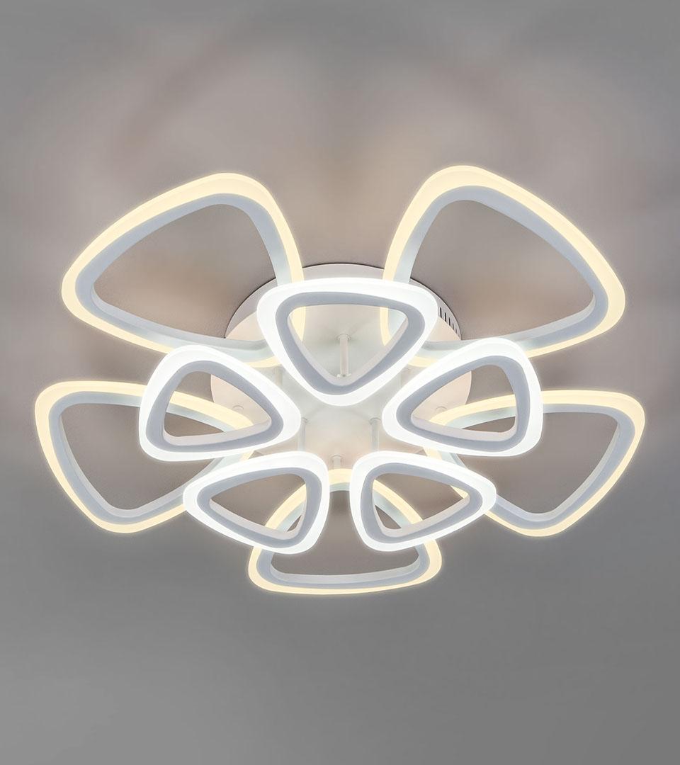 Потолочный светодиодный светильник с пультом управления 90216/10 белый 5