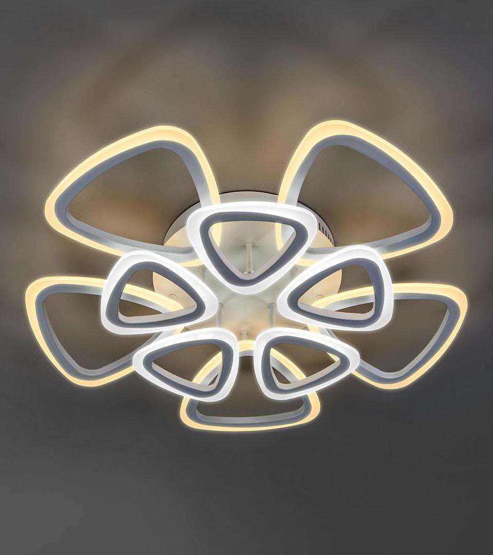 Потолочный светодиодный светильник с пультом управления 90216/10 белый 3