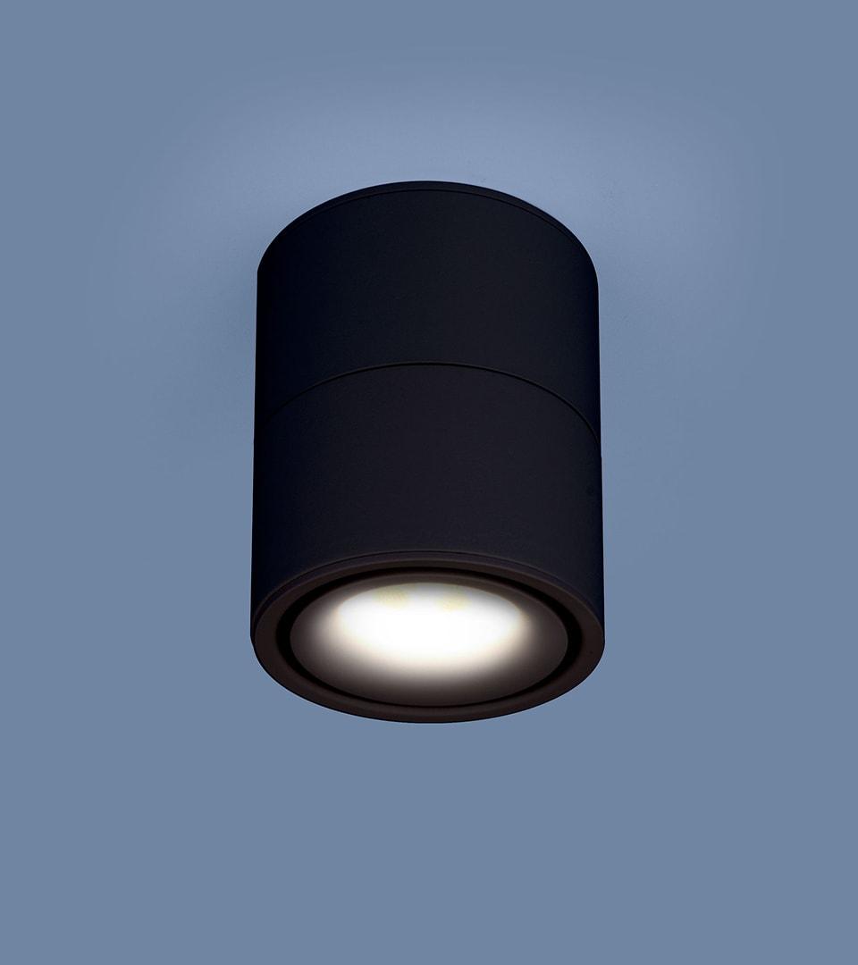 Накладной потолочный светодиодный светильник DLR031 15W 4200K 3100 черный матовый 2