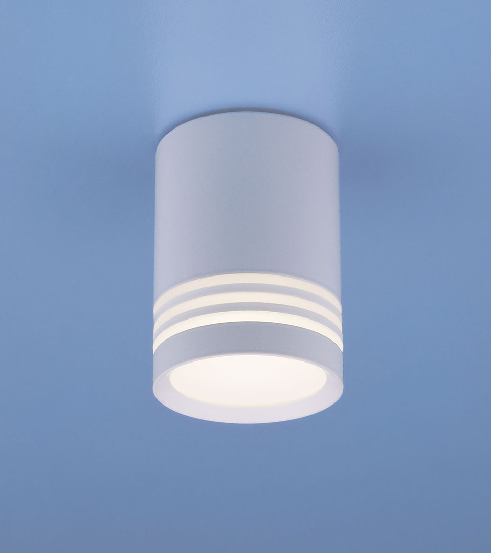 Накладной потолочный светодиодный светильник DLR032 6W 4200K 2