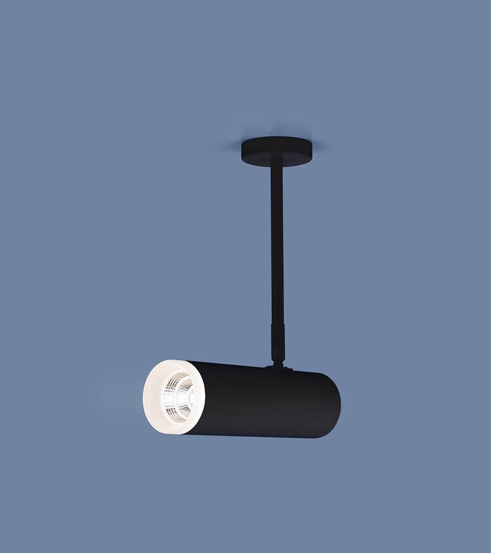 Накладной потолочный светильник DLS022 9W 4200K черный матовый 2