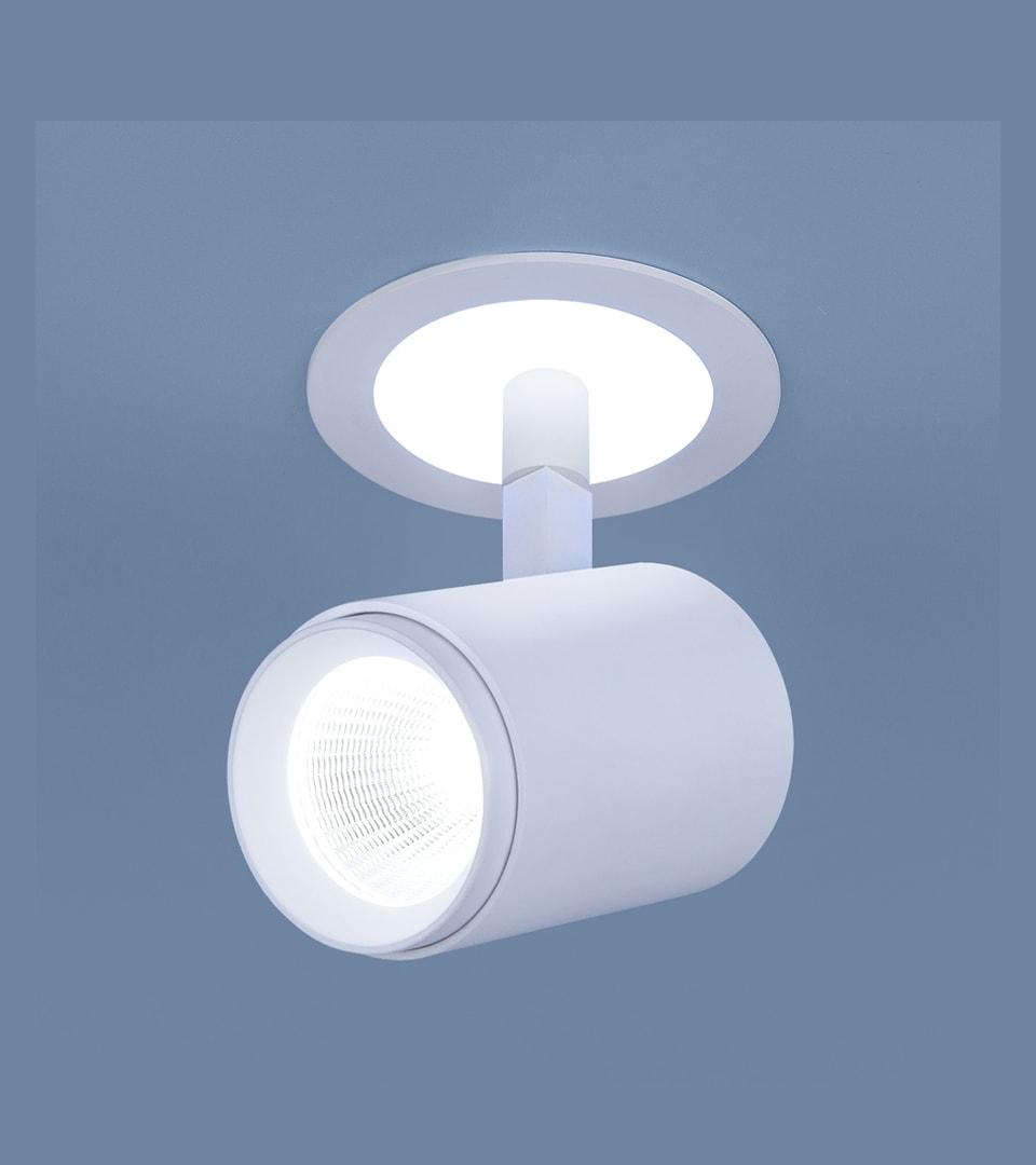 Акцентный светодиодный светильник DSR002 9W 6500K белый матовый 1