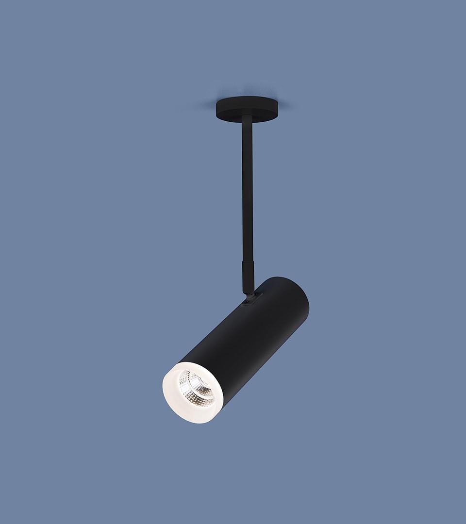 Накладной потолочный светильник DLS022 9W 4200K черный матовый 3