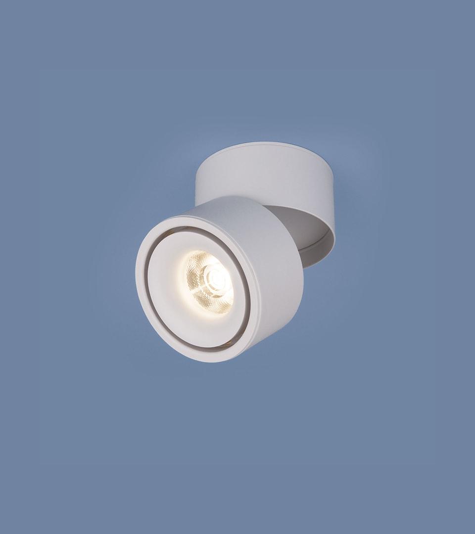 Накладной потолочный светодиодный светильник DLR031 15W 4200K 3100 белый матовый 2