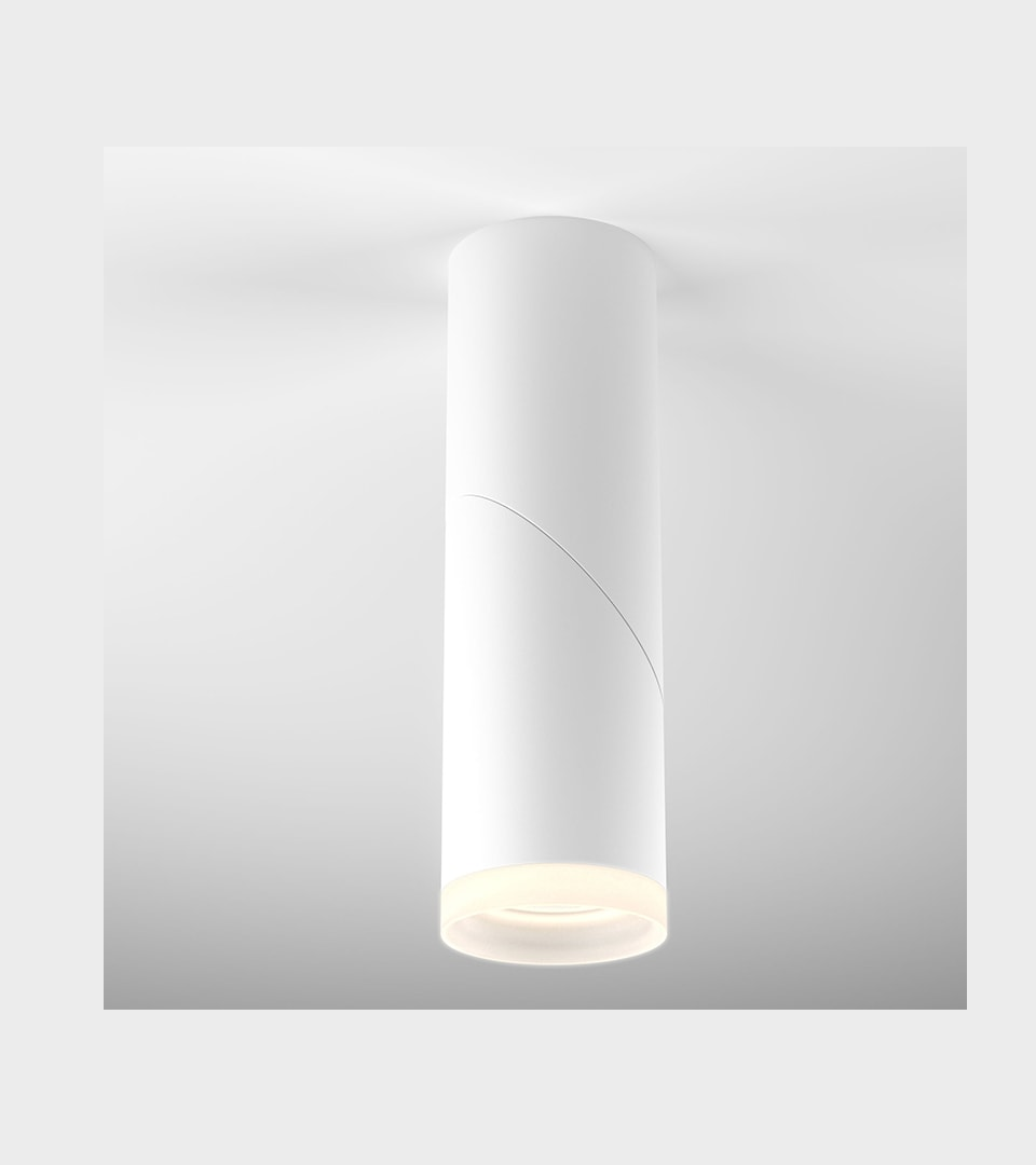 Накладной потолочный светодиодный светильник DLR036 12W 4200K белый матовый 3
