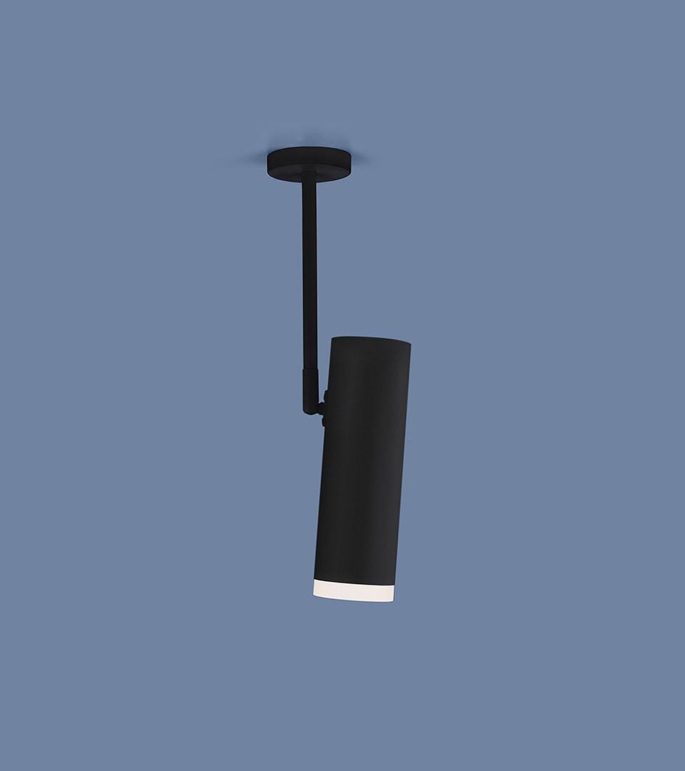 Накладной потолочный светильник DLS022 9W 4200K черный матовый 1