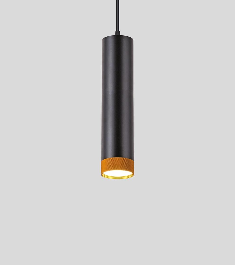 Подвесной светодиодный светильник 50164/1 LED черный/золото 2