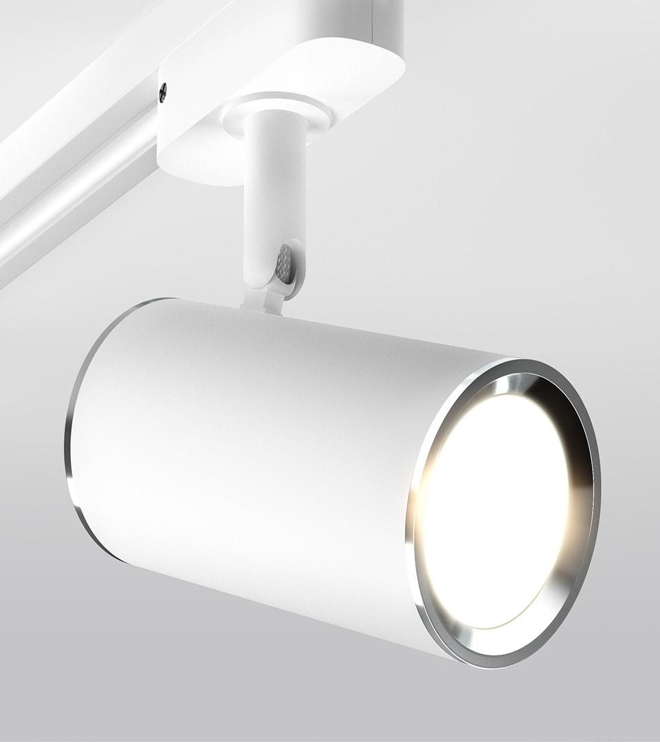 Трековый светильник для однофазного шинопровода Rutero GU10 Белый 1
