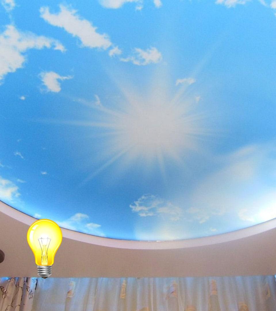 Натяжной потолок Double vision в детской 15 м2 2