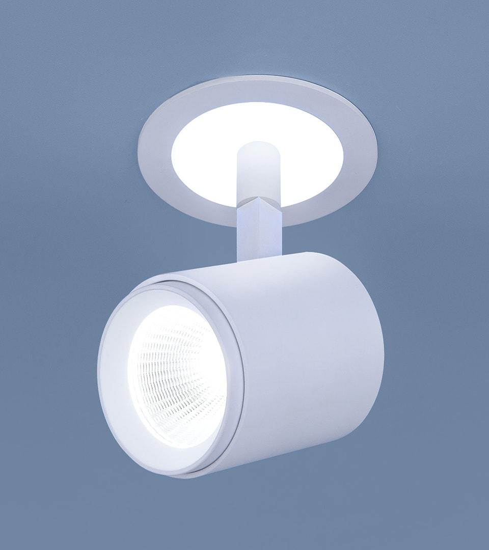 Акцентный светодиодный светильник DSR002 9W 6500K белый матовый 2