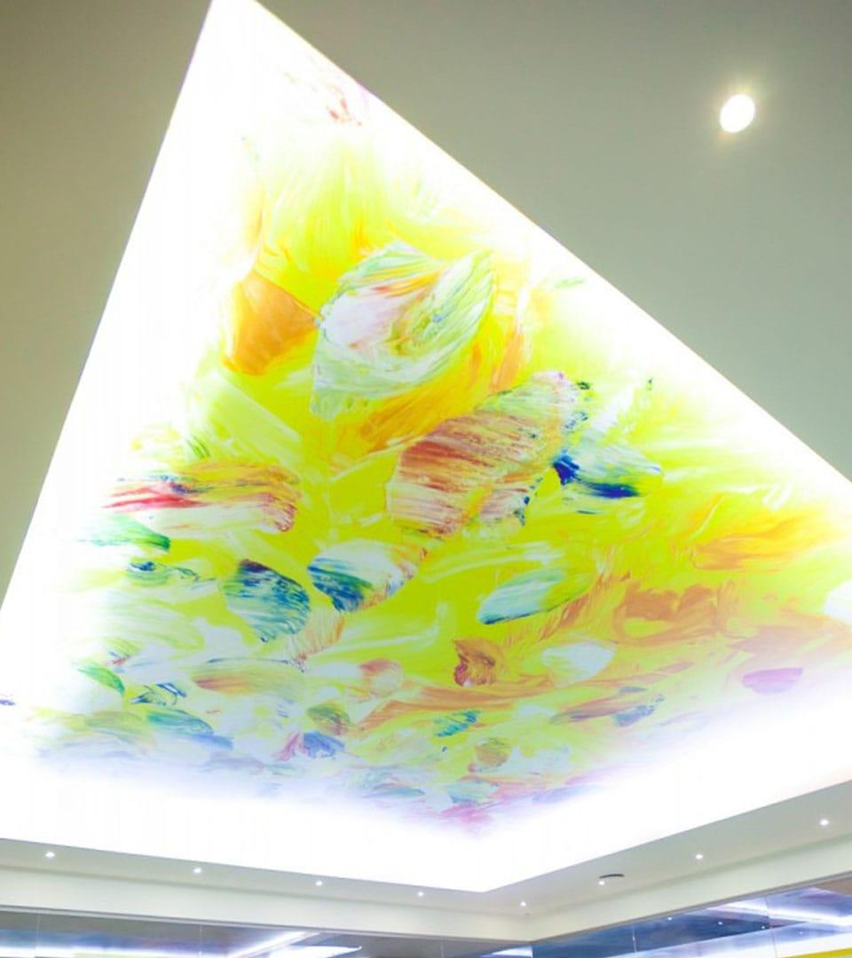 Натяжной потолок с фотопечатью в бассейне 40 м2 1