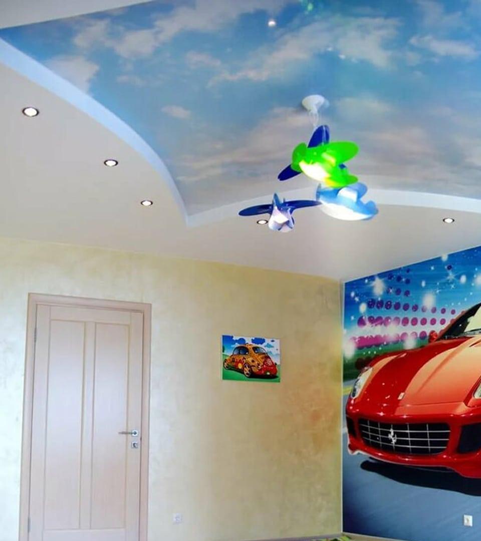 Натяжной потолок с фотопечатью 6 м2 2