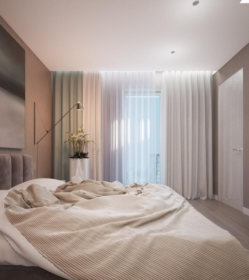 Натяжной потолок с подсветкой в спальне 15 м2 2