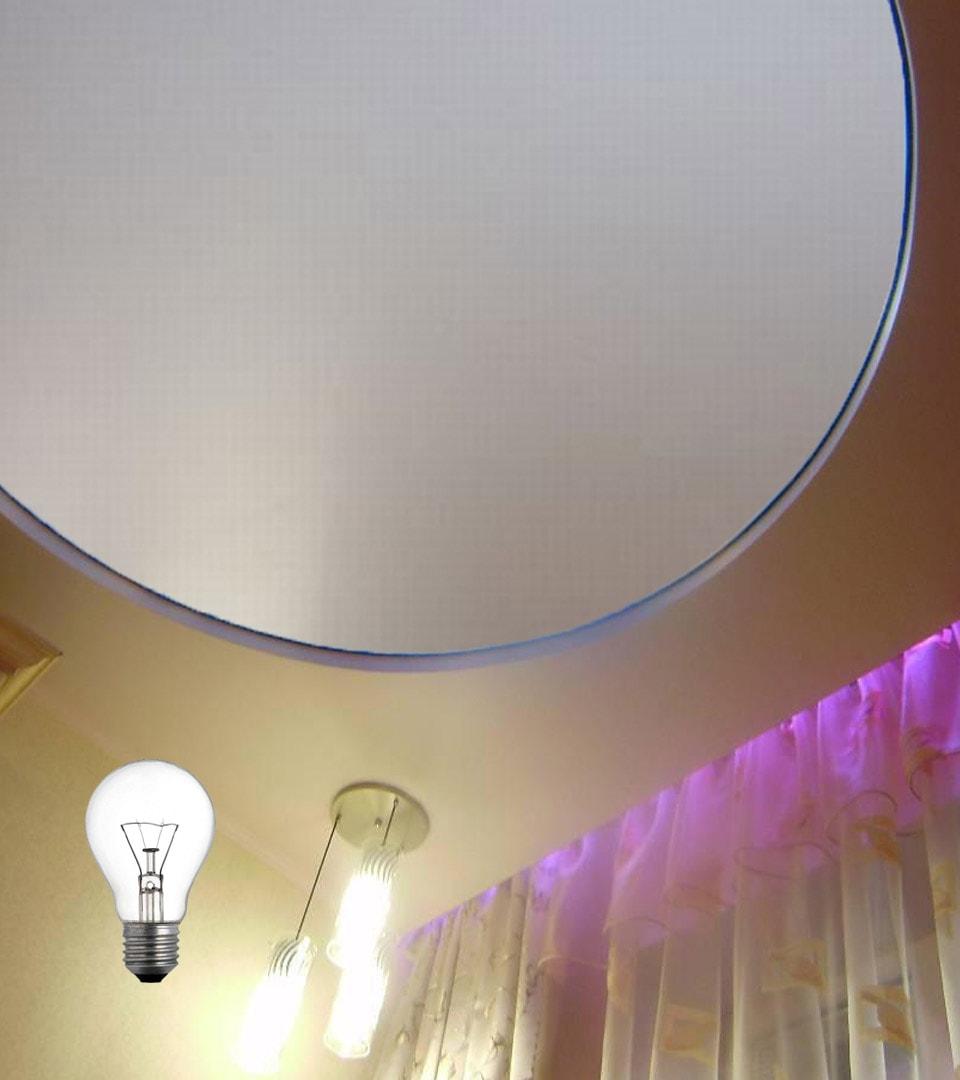 Натяжной потолок Double vision в детской 15 м2 1