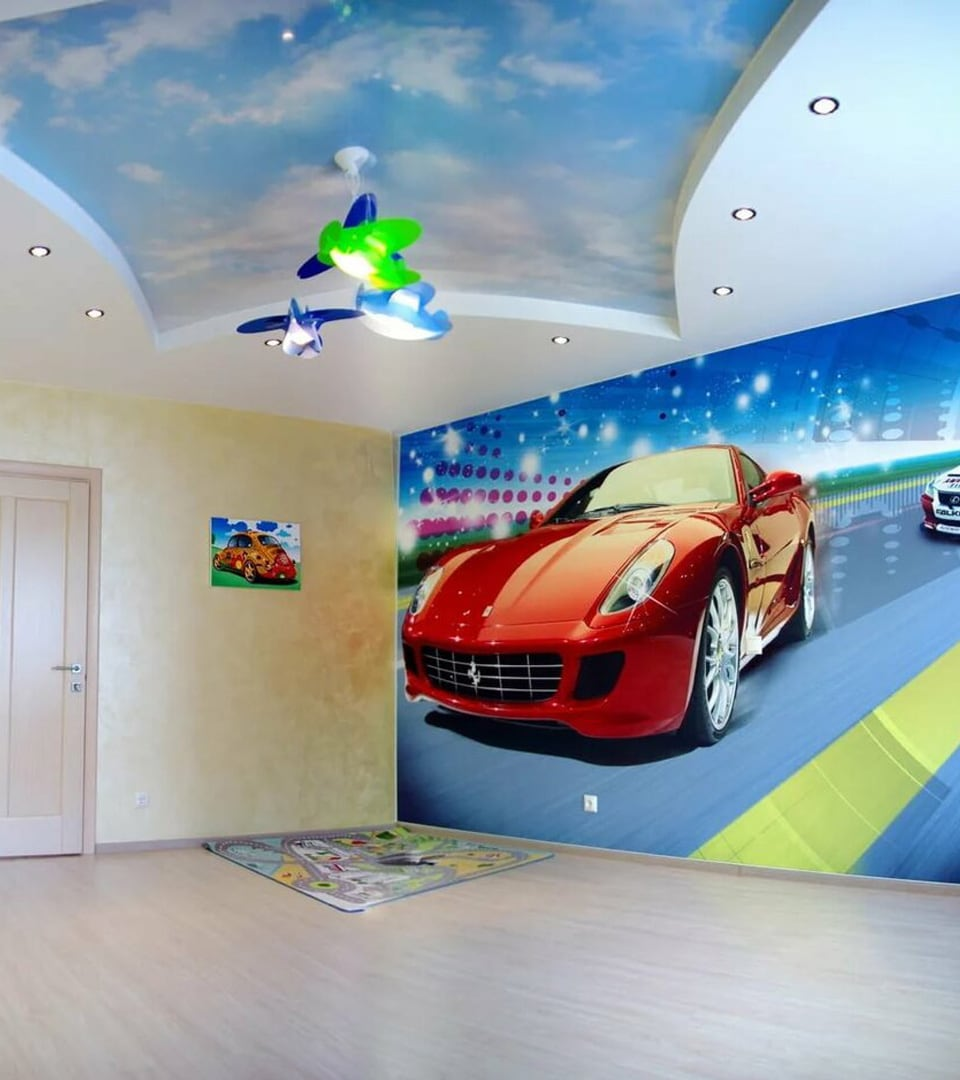 Натяжной потолок с фотопечатью 6 м2 3