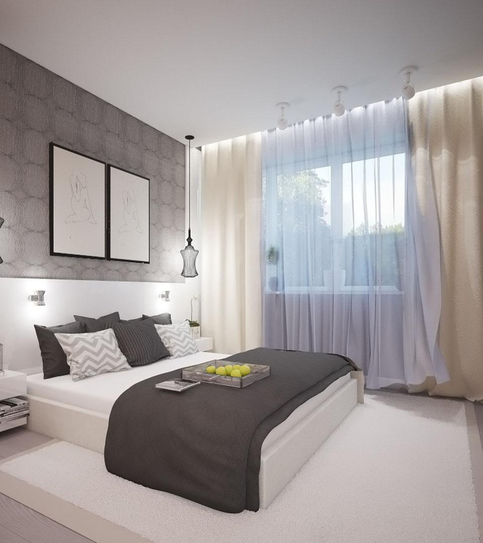Натяжной потолок в спальне с подсветкой 14 м2 3