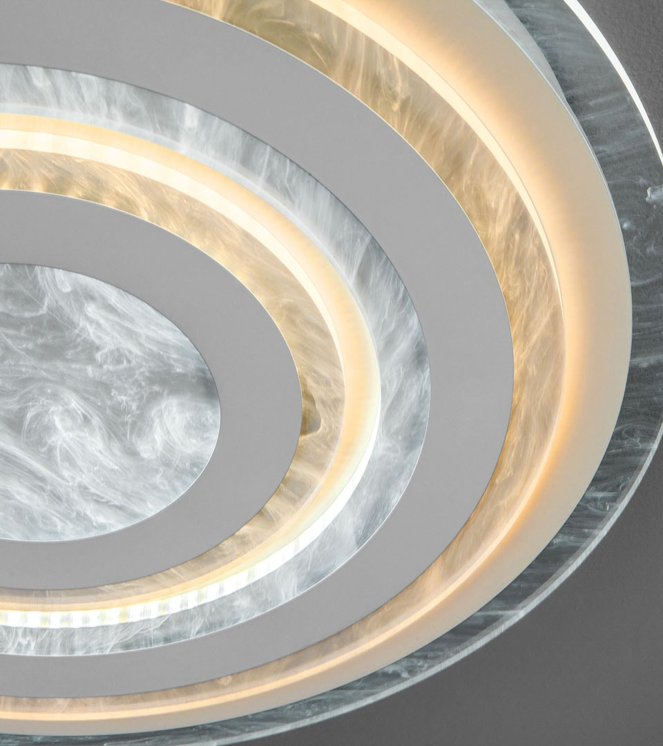 Потолочный светодиодный светильник с пультом управления 90209/1 белый 1