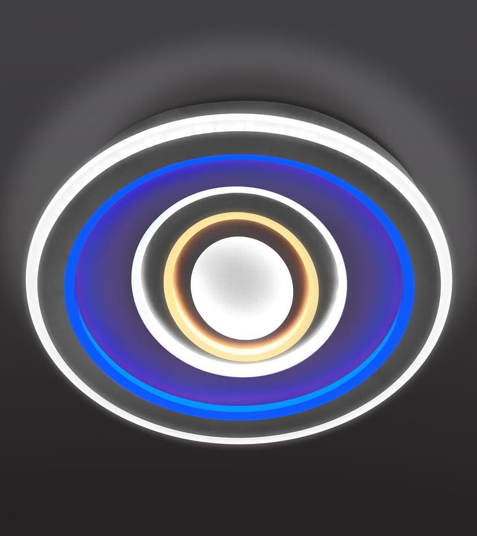 Потолочный светодиодный светильник с пультом управления 90214/1 4