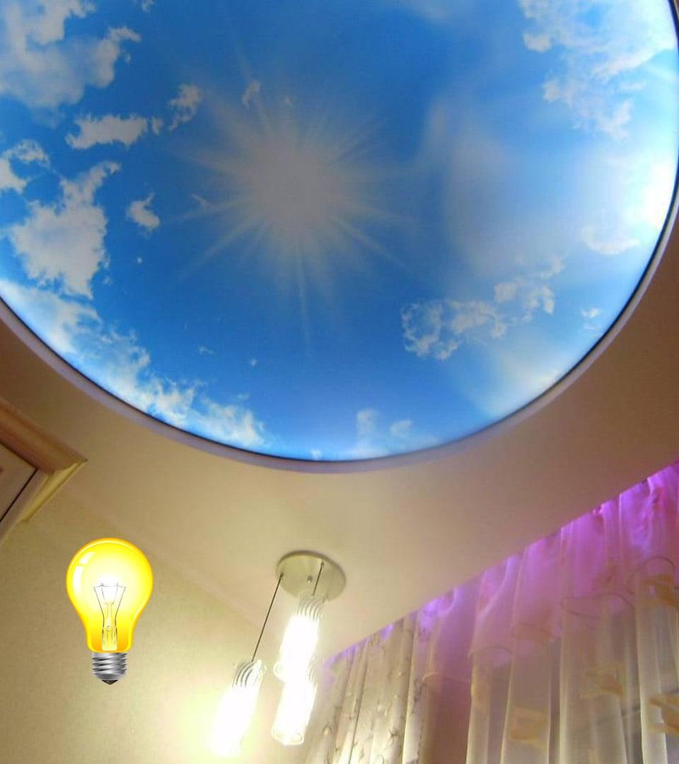 Натяжной потолок Double vision в детской 15 м2 3