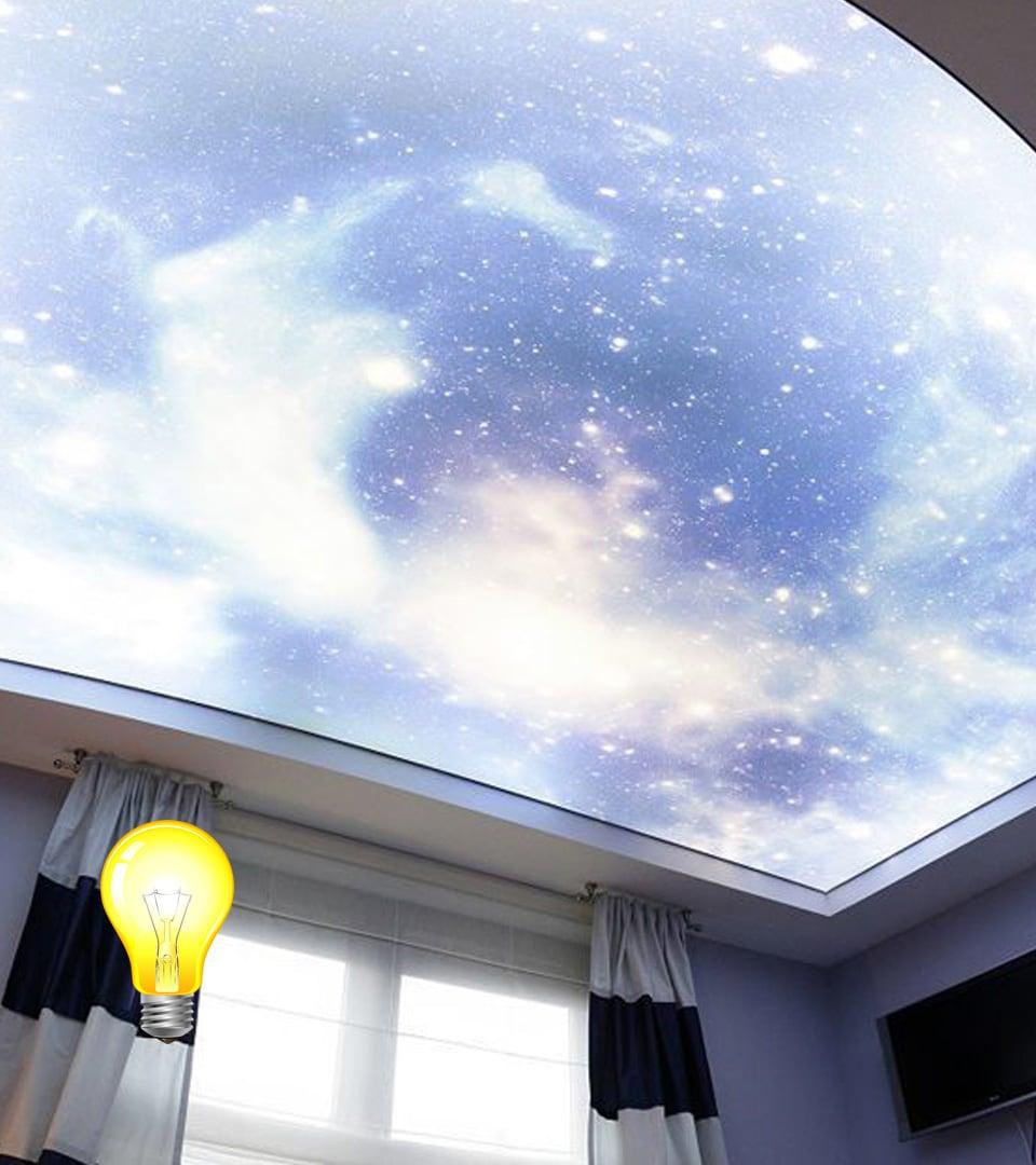 Натяжной потолок Double vision 16 м2 2