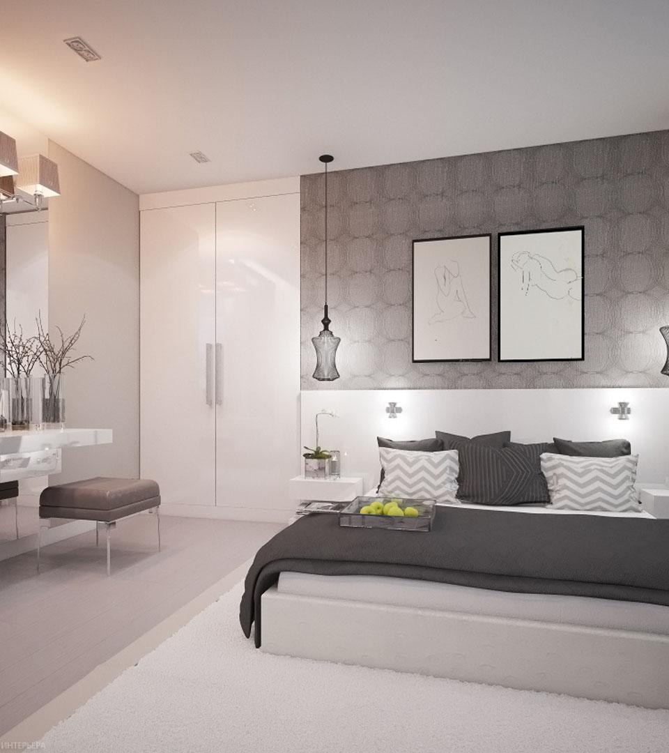 Натяжной потолок в спальне с подсветкой 14 м2 2