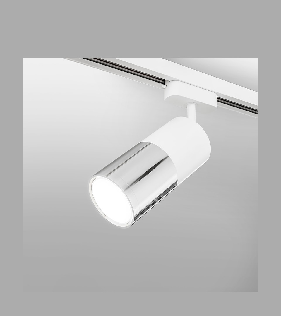Трековый светодиодный светильник для однофазного шинопровода Avantag белый 6W 4200K 4