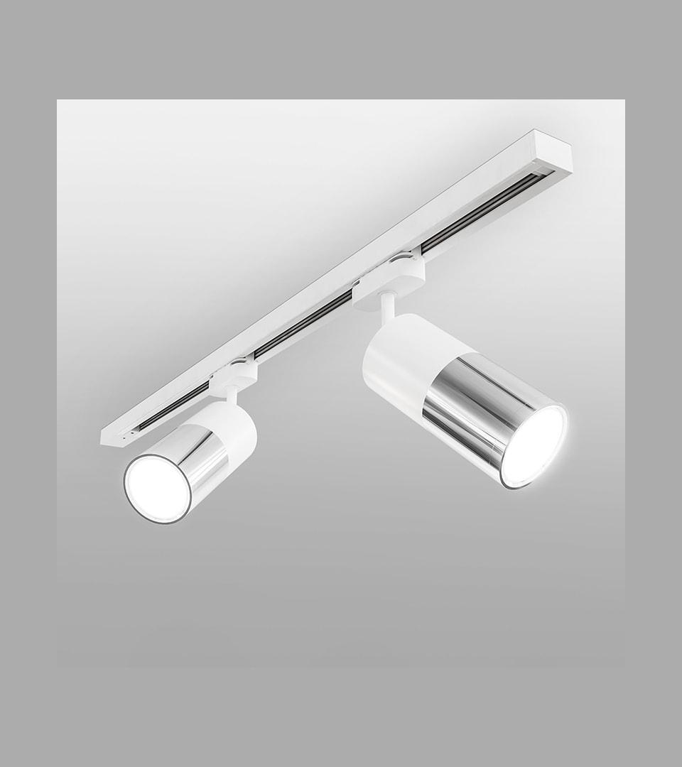 Трековый светодиодный светильник для однофазного шинопровода Avantag белый 6W 4200K 3