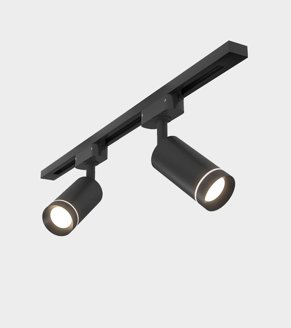 Трековый светодиодный светильник для однофазного шинопровода Glory Черный 7W 4200K 3