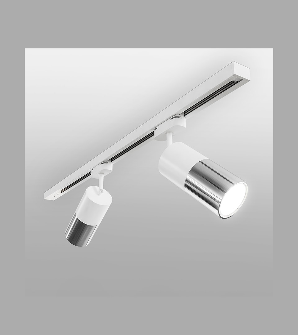 Трековый светодиодный светильник для однофазного шинопровода Avantag белый 6W 4200K 5