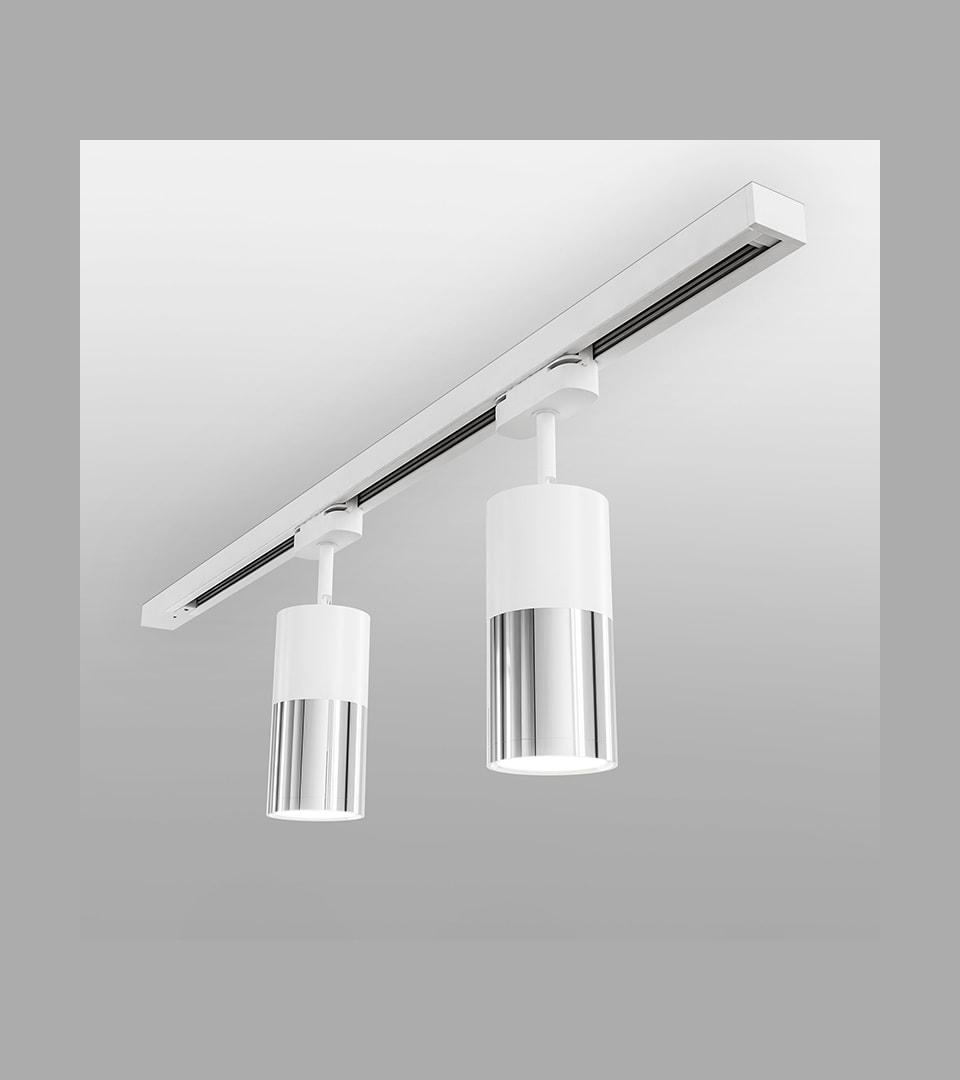 Трековый светодиодный светильник для однофазного шинопровода Avantag белый 6W 4200K 2