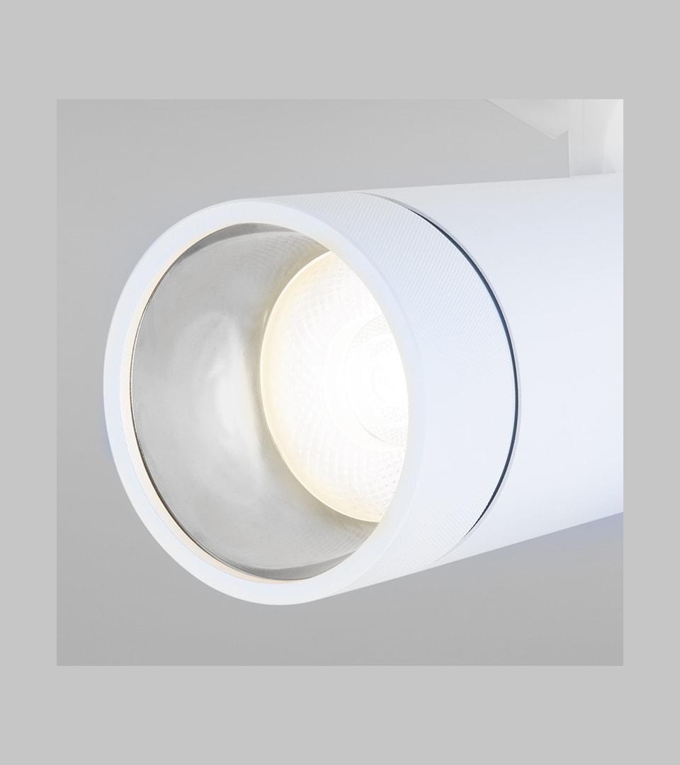Трековый светодиодный светильник для однофазного шинопровода Baril белый 40W 4200K 1