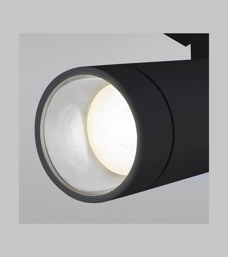 Трековый светодиодный светильник для однофазного шинопровода Baril черный 40W 4200K 2