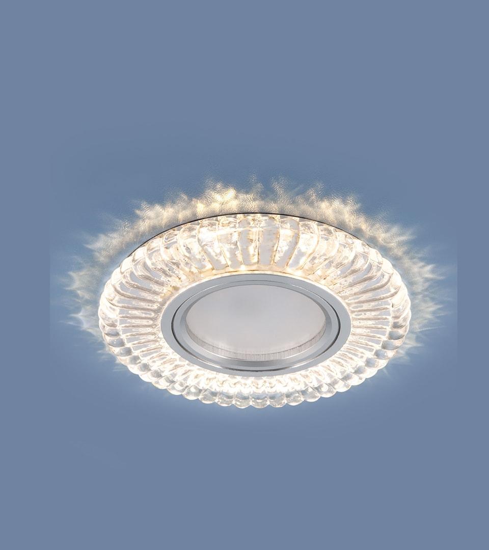 Встраиваемый точечный светильник с LED подсветкой 1