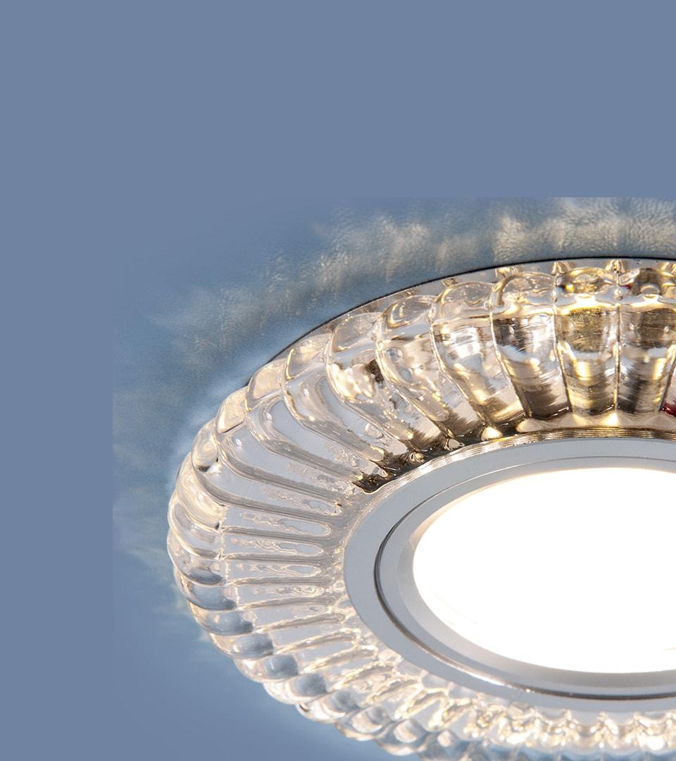 Встраиваемый точечный светильник с LED подсветкой 3