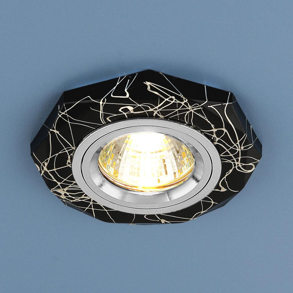 Встраиваемый точечный светильник  2040 MR16 BK/SL 1