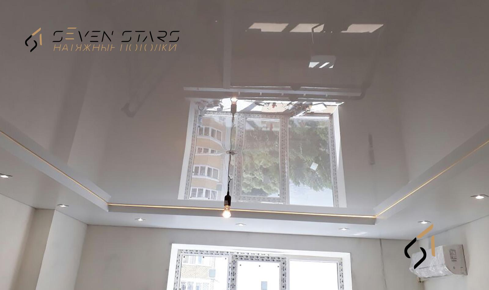 Двухуровневые потолки 47
