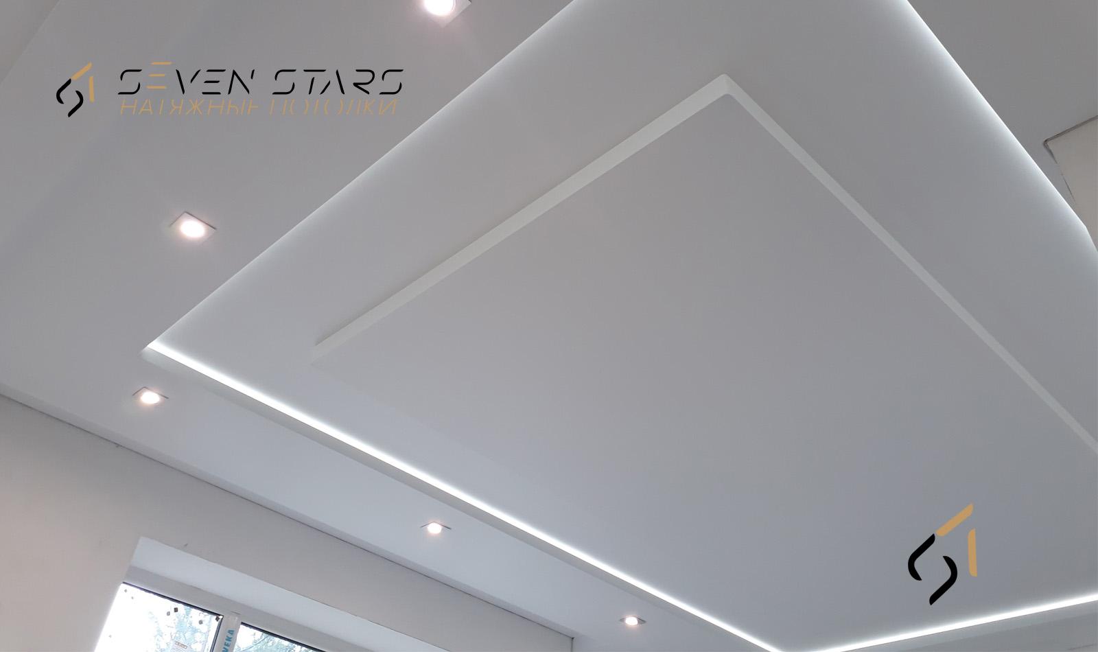 Галерея двухуровневых потолков 11